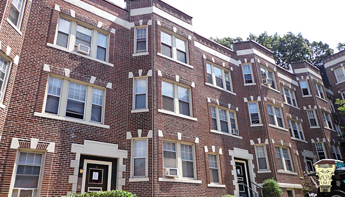 Apartment Building Boston brick replacement and repointing in boston, ma